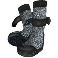 Trixie Hundeschuh Walker Socks schwarz-meliert/schwarz 2 St. XL