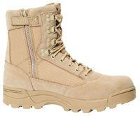 Brandit Zipper Tactical Stiefel Grösse: 43, Farbe: Hellbraun