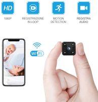 Mini Überwachungskamera I WiFi HD 1080P Mini Überwachungskamera Nanny Security mit Bewegungserkennung und Infrarot Nachtsicht für iPhone/Android Phone/iPad