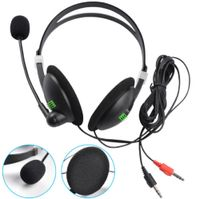 Mikrofon Headset Gaming Kopfhörer mit Mikrofon für PC Laptop PS4 3,5 mm Buchse
