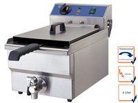 Gastro Fritteuse Chrom-Nickel-Stahl 3,25 kW, Profi Kaltzonen Fritteuse Friteuse