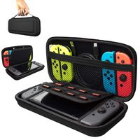 Schutzhülle für Nintendo Switch Lite Tasche Hartschale Reiseetui Hard Case Schutz Cover Schwarz Tragetasche Aufbewahrungstasche Reisetasche Zubehörfächer