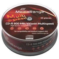 MediaRange CD-Rohlinge CD-R, 900MB, 48x, 25er Spindel
