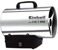 Einhell Heißluftgenerator HGG 110/1 Niro, Nennwärmeleistung 10 kW, Betriebsdruck max. 700 mbar, incl. Gasschlauch und Druckregler, 2330111