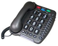 Geemarc Amplipower 50 Schwerhörigentelefon extra laut 60 dB Anthrazit Deutsche Version