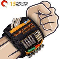 Beste Herrengeschenke, magnetisches Armband - Handwerker-Magnetarmband mit 15 starken Magneten, Vater, Tischler, Männer, Geräte, Geschenke zum Halten von Werkzeugen, Schrauben, Nägeln, Bohrern