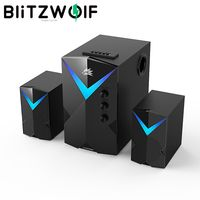 BlitzWolf®BW-GT2 Computer Speaker 20W with 2.1 Channel Combination Speakers Powerful Bass Dazzling Light bluetooth Version Multiple Connections