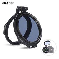UURIG R 58 58 mm Schnellfiltersystem Kameraobjektiv ND Filter Metalladapterring Kompatibel mit Canon Nikon Olympus DSLR Kameras Schwarz