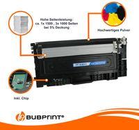 4 Toner kompatibel für Samsung CLT-404S black cyan magenta yellow Xpress C430 C480