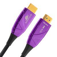 8k 4k HDMI Kabel AOC, 15m Optical Kabel 2.1 , professionell, 8k@60Hz 4k@120Hz Ultra High Speed, 48Gbit/s 3D HDR, VRR, eARC, Qms, ALLM, QFT Spacetronik  SH-OX150 15 m