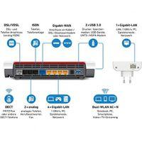 AVM Fritz! Mesh Set - Dual-Band (2,4 GHz/5 GHz) - Wi-Fi 5 (802.11ac) - 1733 Mbit/s - IEEE 802.11a,IEEE 802.11b,IEEE 802.11g - 1733 Mbit/s - 800 Mbit/s