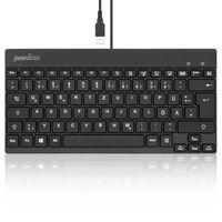 Perixx PERIBOARD-326 DE, Beleuchtete USB-Tastatur, kabelgebunden, schwarz