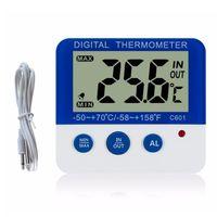 Digitales Kuehlschrankthermometer mit Alarm und maximaler Mindesttemperatur Leicht lesbares LCD-Display Digitales Kuehl- / Gefrierkochthermometer fuer den Innen- und Aussenbereich