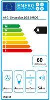 AEG DDE5980G, 700 m³/h, Abluft/Umluft, A, A, D, 54 dB