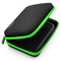 deleyCON Navi Tasche Navi Case Tasche für Navigationsgeräte - 6 Zoll & 6,2 Zoll (17x12x4,5cm) - Robust & Stoßsicher - 1 Innenfach - Schwarz Grün