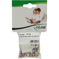 InLine® Schraubenset, mit Jumper, Klebeklipp etc.