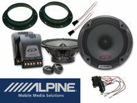 VW BUS T5 T6 Alpine SPG -17CS Audio Lautsprecher System 2 Wege 280Watt Set Vorn