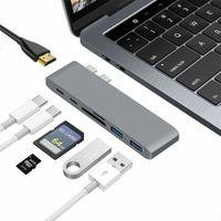 7 in 1 USB-C Typ C HD-Ausgang 4K HDMI SD / TF USB 3.0 Adapter HUB Für MacBook Pro