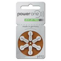 Hörgerätebatterie Varta PowerOne 312 - quecksilberfrei 5pck
