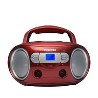 Toshiba - Portable CD Boombox - CD Player, FM Radio - RED