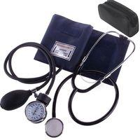 Blutdruckmessgerät Oberarm Messgerät Stethoskop Manuell Manometer Manschette Oberarm Blutdruckmessgerät mit Stethoskop Doppelkopf Pumpball Manschette Set