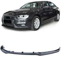 Frontspoiler Lippe Sport Optik Schwarz Glanz für Audi A4 B8 8K 11-15 Facelift