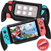 Switch Halter für Nintendo Switch Konsole Handgriff Ständer Grippro Grip Case Griff Halterung Ladegriff mit Spiele Aufbewahrungsbox für Nintendo Switch Zubehör