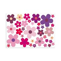 Aufkleber-Set Blumen Blümchen lila I Flower-Power Sticker für Roller Fahrrad Notebook Laptop Handy Auto-Aufkleber I wetterfest I kfz_242