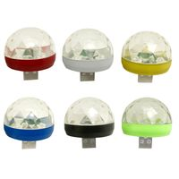 Mini Disco Licht Rotierenden USB Magic Ball Licht RBG LED Lampe Tragbare Home Party Buehne Licht Zufaellige Farbe