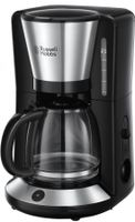 Russell Hobbs 24010-56 Adventure Glas-Kaffeemaschine Edelstahl gebürstet / schwarz, Farbe:Edelstahl