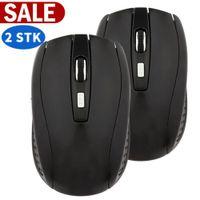 2 X 2,4 GHz Wireless Maus Funk Maus kabellos Maus 1600DPI optische Maus mit USB Empfänger für PC Laptop