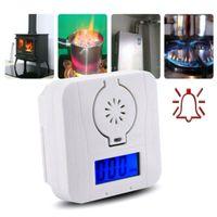 CO Melder Alarm Kohlenmonoxid Gasmelder Gaswarner Rauchmelder LCD Anzeige