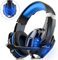 Gaming Headset für PS4 Xbox One PC, Gaming-Kopfhörer mit Mikrofon, LED-Licht Bass Surround