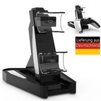 Controller Ladestation Charger für PS5, Controller USB-Ladegerät Ladeständer mit Kabel zum 2 PS5 Controller gleichzeitig Laden (Schwarz+Weiß)