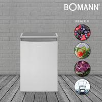 Bomann Vollraumkühlschrank VS 2185.1 inox-look  133 Liter