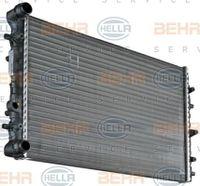 HELLA Kühler Motorkühlung für VW POLO 9N_ für SKODA FABIA Combi 6Y5