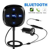 Wireless AUX-in Bluetooth Receiver Adapter Ladegerät für Car Stereo Autoradio-Lautsprecher