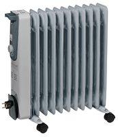 Einhell Ölradiator MR 1125/2, Leistung 2500 Watt, 3 Heizstufen 1000 Watt / 1500 Watt / 2500 Watt, stufenloser Thermostatregler, Kabelaufwicklung, 2338322