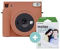 Fujifilm Instax Square SQ1 Instant Camera 10 Shots - Terracotta Orange