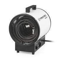 TROTEC Elektroheizer TDS 50 R mit 9 kW , Mehrstufen-Temperaturregelung mit bis zu drei Heizstufen, Integriertes Thermostat für konstanten Warmluftstrom, Kondensfreie Wärme - kein Sauerstoffverbrauch - deshalb optimal zur Innenraumbeheizung geeignet