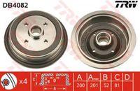 Trw Bremstrommel Hinterachse DB4082