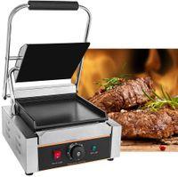 Kontaktgrill Plattengriller Elektrogrill Sandwich Maker Low Fat Grill Elektrische Tischgrills Edelstahl, 1800W, 0-300℃