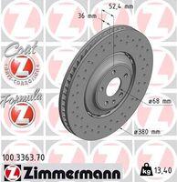 2x ZIMMERMANN VORNE Bremsscheibe für AUDI Q5 (8RB) Q5 (FYB)