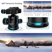"""Andoer TB81X Stativkugelkopf 360 Grad drehbarer Panoramakugelkopf fuer Stativ Einbeinstativ DSLR-Kamera mit 3 Stueck 1/4 """"bis 3/8"""" Schraubenadapter max. Laden Sie 8 kg"""
