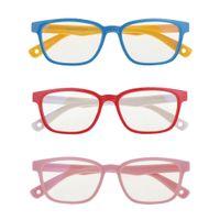 3pcs Blaulichtfilter Brille, Anti-blaulicht Lesebrille UV-Schutz Computerbrille Game Brille für Kinder, Junge und Mädchen