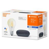 LEDVANCE Bundle Google Home Mini black SMART+ E27 Filament STARTER KIT SMART HOME