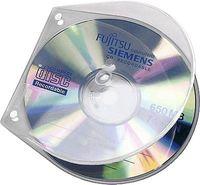 VELOFLEX VELOBOX - Tasche für CDs/DVDs - 1 Scheibe - Polypropylen - durchsichtig (Packung mit 10)