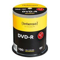 Intenso DVD-R 4.7GB, DVD-R, 120 mm, Tortenschachtel, 100 Stück(e), 4,7 GB