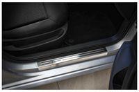 Edelstahl Exclusive Einstiegsleisten für VW Touran 2 5T R-Line ab Bj. 2015-, Farbe:Silber