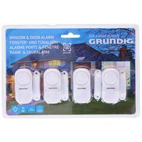 Grundig 4 teiliges Tür- und Fensteralarm-Set, drahtlos, 90db, weiß